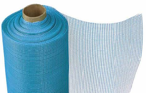 A roll of blue color construction fiberglass cloth