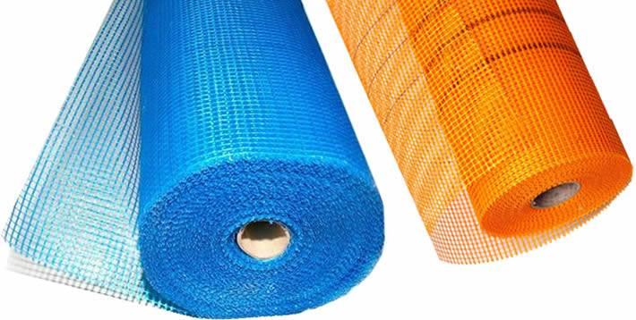 Plastering Mesh Fiberglass Cloth Rolls In Blue And Orange Color